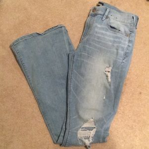 EUC EXPRESS Distressed Flare Jeans